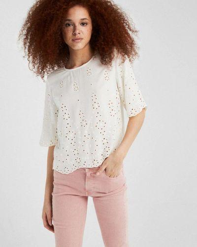 Блузка с коротким рукавом индийский белая Springfield