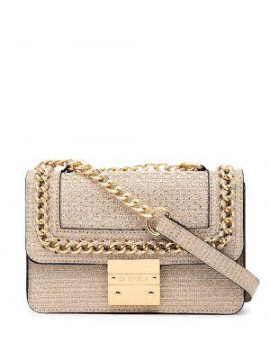 Złota torebka na łańcuszku - beżowa Carvela