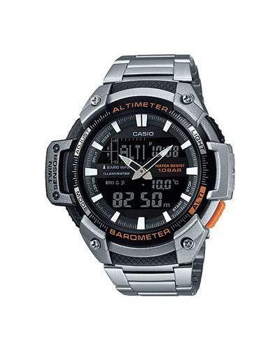 Часы с подсветкой серебряный Casio