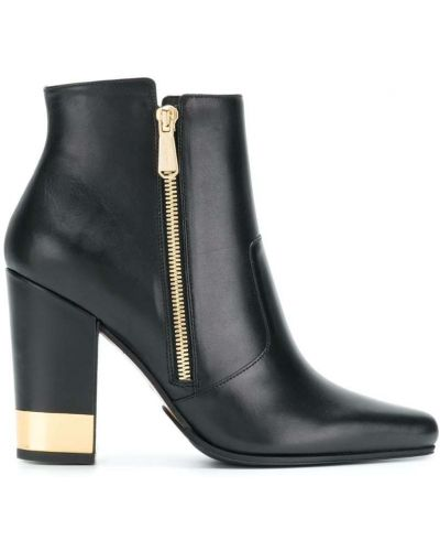 Кожаные ботинки на молнии с острым носком Balmain