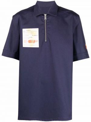 Koszula krótki rękaw - niebieska Heron Preston