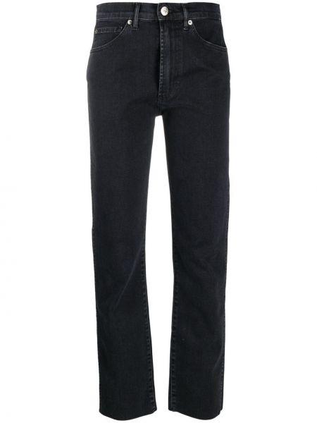Хлопковые черные джинсы-скинни на молнии 3x1