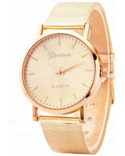 Klasyczny złoty zegarek z siateczką Geneva