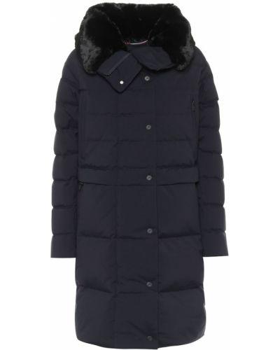 Niebieski płaszcz miejski Fusalp