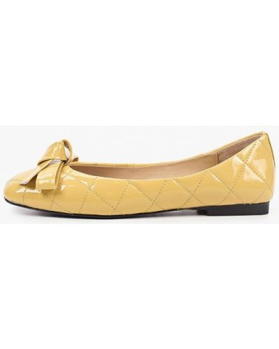 Желтые лаковые кожаные балетки Tuffoni