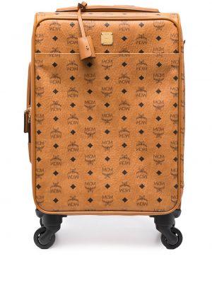 Золотистая коричневая сумка на молнии Mcm