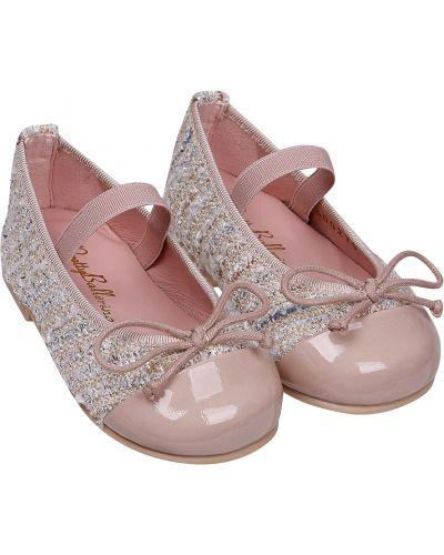 Кожаные розовые туфли Pretty Ballerinas