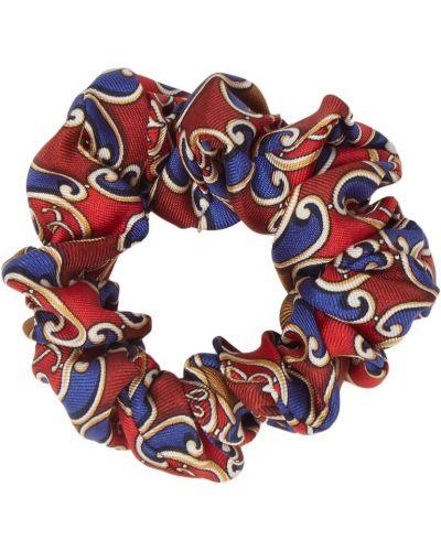 Резинка для волос красный с узором Fendi