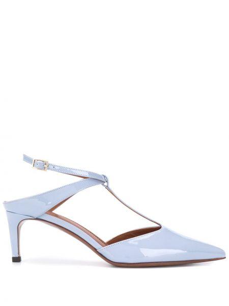 Синие туфли-лодочки на каблуке с пряжкой L'autre Chose