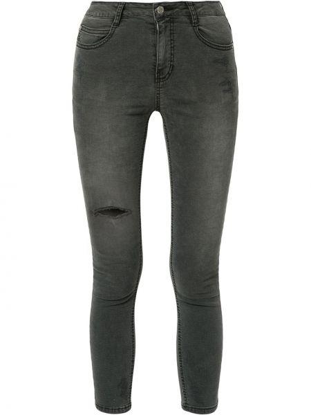 Нейлоновые черные джинсы с карманами на молнии Sjyp