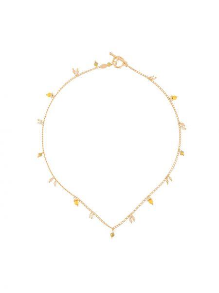 Чокер золотой с подвесками металлический Gas Bijoux