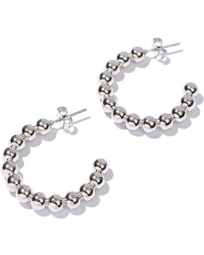Серьги-кольца серебряный Exclaim