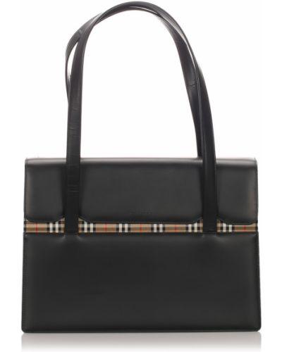 Czarna torba na ramię skórzana Burberry Vintage
