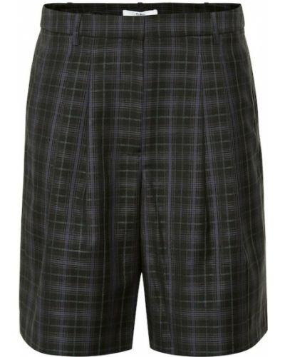Черные шорты со складками Tibi