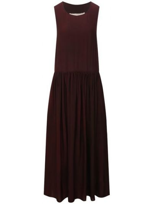 Бордовое платье из вискозы Uma Wang