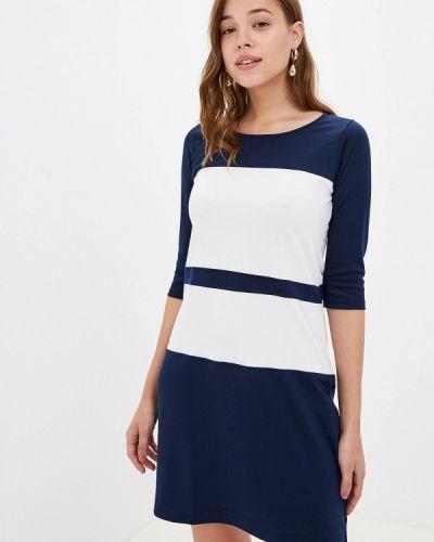 Разноцветное платье - белое Bruebeck