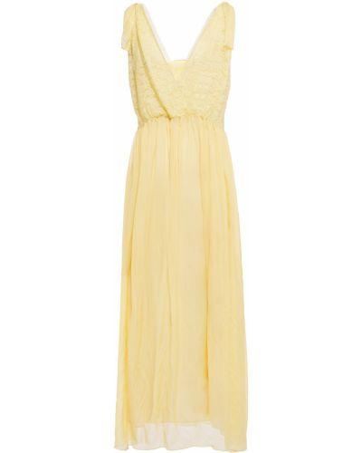 Шифоновое платье миди - желтое Forte_forte