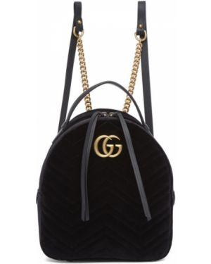 Skórzany plecak na ramieniu pikowana Gucci