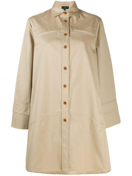 Расклешенное длинное пальто на пуговицах Jejia