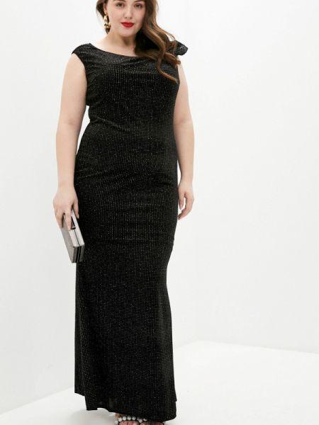 Черное вечернее платье Goddiva Size Plus