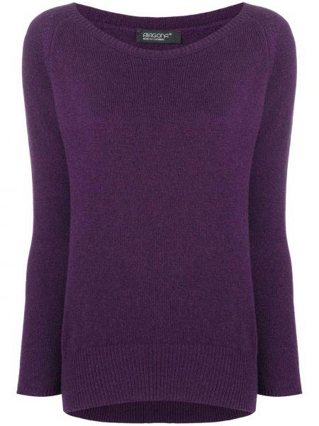 Фиолетовый свитер в рубчик Aragona