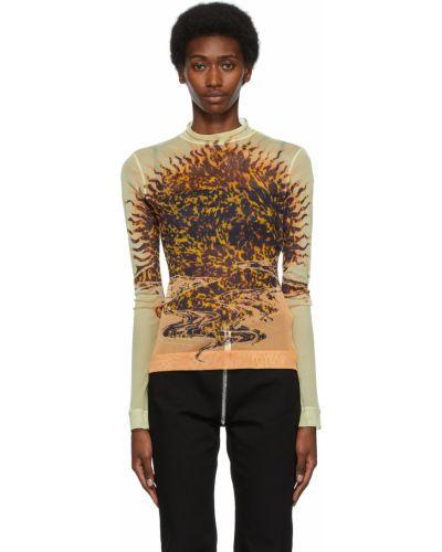 Bluzka z długimi rękawami - czarna Givenchy