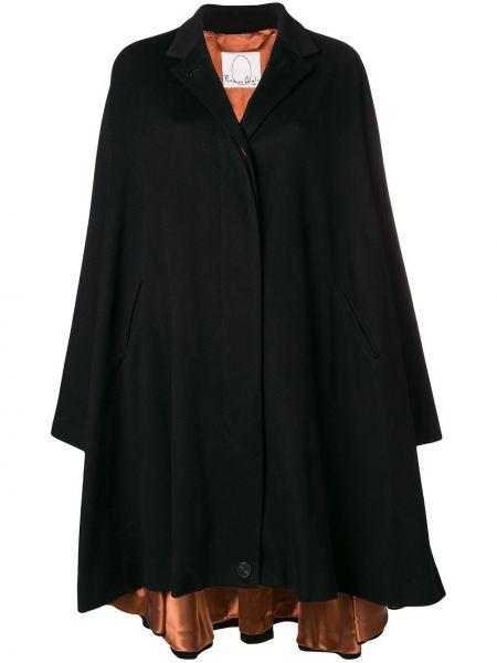 Черное пальто из вискозы Romeo Gigli X Eggs