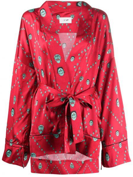 Kimono z długimi rękawami z rękawami Kirin