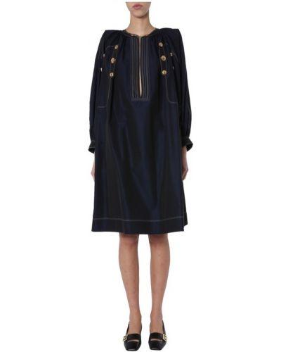 Sukienka midi elegancka - niebieska Givenchy