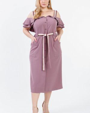 Вечернее платье розовое на пуговицах Lacywear