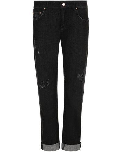 Прямые джинсы с эффектом потертости с подворотами Escada Sport