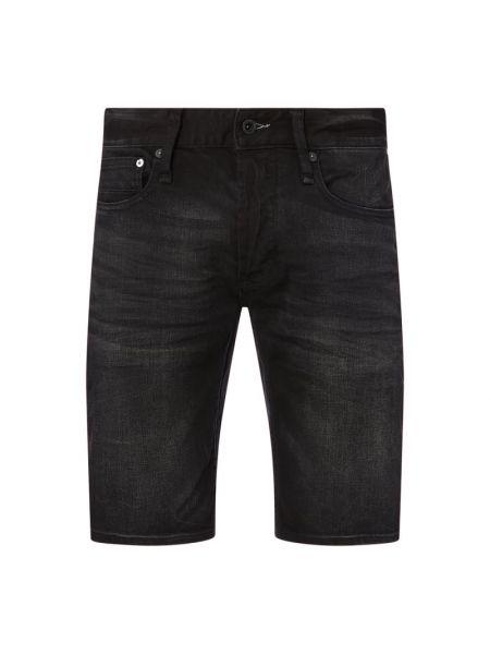 Czarne szorty jeansowe bawełniane Denham