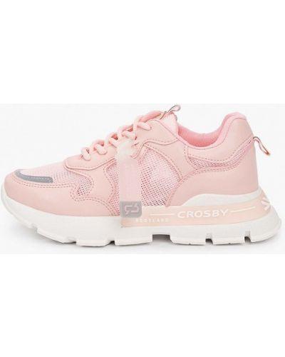 Розовые кожаные кроссовки Crosby