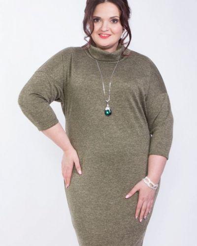 Платье вязаное зеленый Wisell