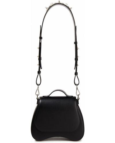 Czarna torebka z kryształkami Simone Rocha
