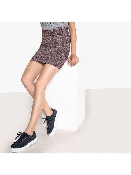 Шерстяная черная прямая юбка мини с рукавом 3/4 Best Mountain