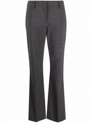 Серые шерстяные брюки с манжетами с потайной застежкой Piazza Sempione