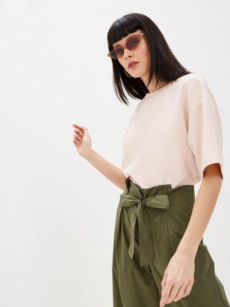 Блузка с коротким рукавом розовая весенний Sela