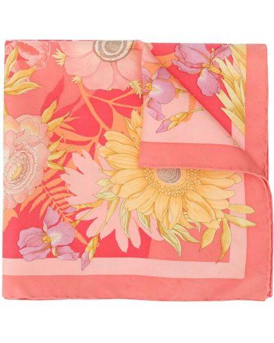 Розовый шелковый платок Salvatore Ferragamo Pre-owned