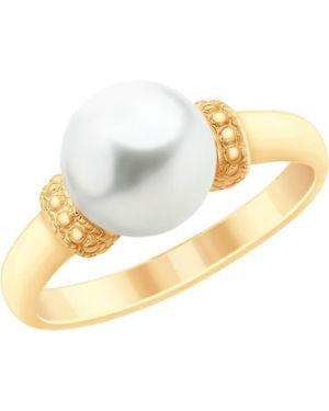 Кольцо с жемчугом из золота Sokolov