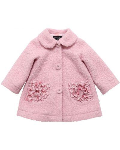 Бархатное пальто - розовое Monnalisa