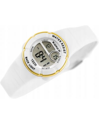 Biały klasyczny zegarek srebrny Xonix