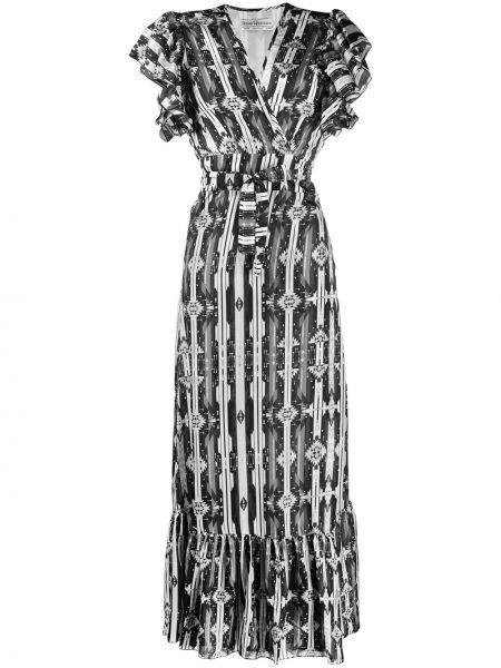 Черное платье с запахом с оборками на молнии Jessie Western