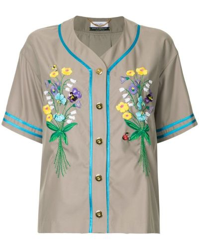 Рубашка с вышивкой на пуговицах Muveil