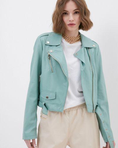 Зеленая кожаная куртка Silvian Heach
