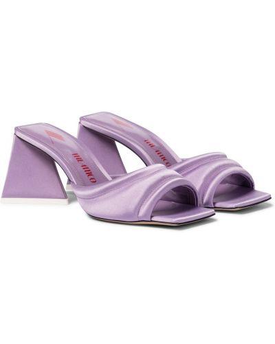 Фиолетовые кожаные сандалии на каблуке The Attico