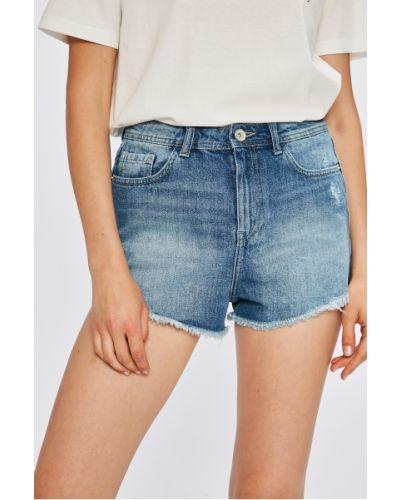 Шорты с завышенной талией джинсовые Review