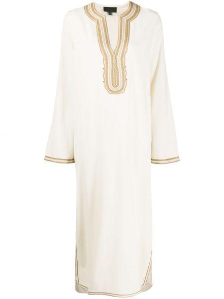 Платье макси с вышивкой с V-образным вырезом Nili Lotan