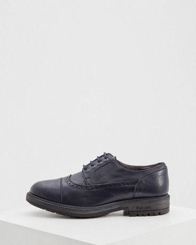 Кожаные туфли - синие Pollini