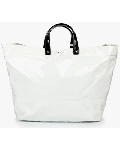 Белая сумка шоппер Mango